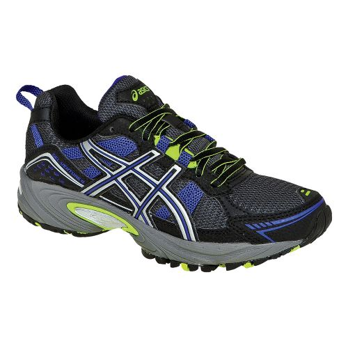 Womens ASICS GEL-Venture 4 Trail Running Shoe - Black/Iris 6.5