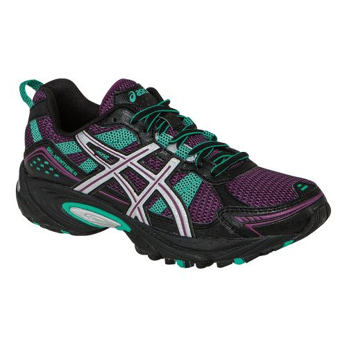 Womens ASICS GEL-Venture 4 Trail Running Shoe - Boysenberry/Lightning 10.5