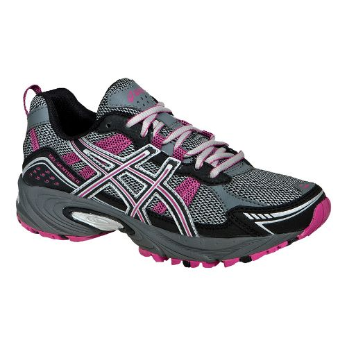 Womens ASICS GEL-Venture 4 Trail Running Shoe - Charcoal/Black 8