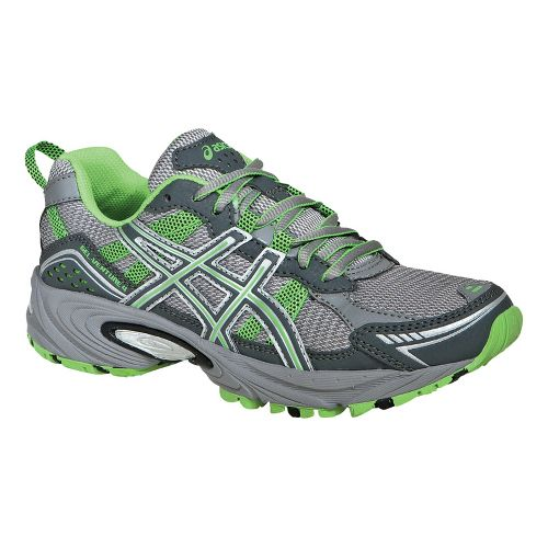 Womens ASICS GEL-Venture 4 Trail Running Shoe - Charcoal/Frost 7.5