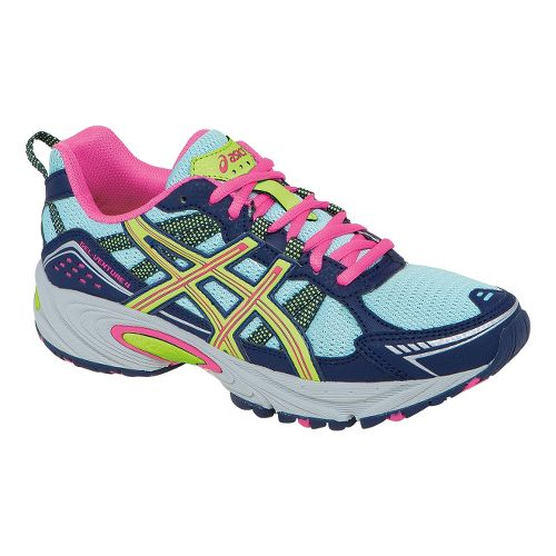 Womens ASICS GEL-Venture 4 Trail Running Shoe - Ice Blue/Navy 7.5