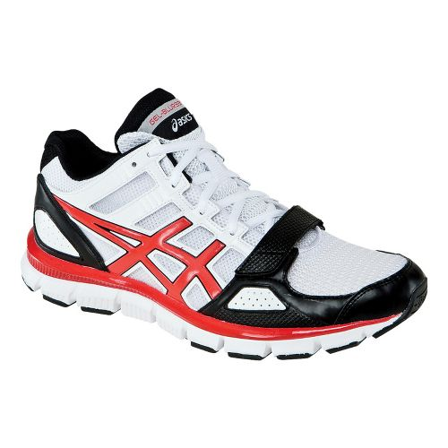 Mens ASICS GEL-Blur33 TR Mid Cross Training Shoe - White/Sport Red 11.5