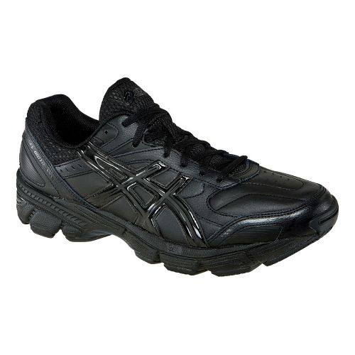 Mens ASICS GEL-180 TR Leather Cross Training Shoe - Black/Black 12