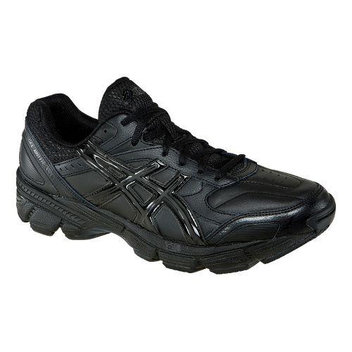 Mens ASICS GEL-180 TR Leather Cross Training Shoe - Black/Black 14
