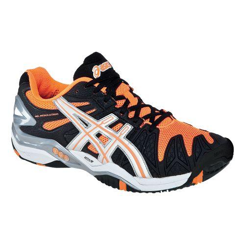 Mens ASICS GEL-Resolution 5 Court Shoe - Black/White 5