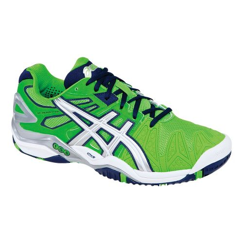 Mens ASICS GEL-Resolution 5 Court Shoe - Neon Green/Lightning 12