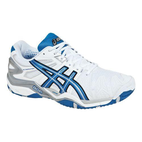 Mens ASICS GEL-Resolution 5 Court Shoe - White/Royal 14