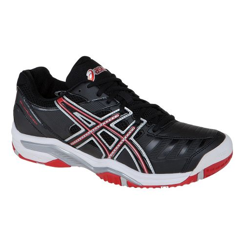 Mens ASICS GEL-Challenger 9 Court Shoe - Black/Fiery Red 6