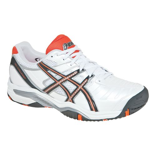 Mens ASICS GEL-Challenger 9 Court Shoe - White/Castlerock 10