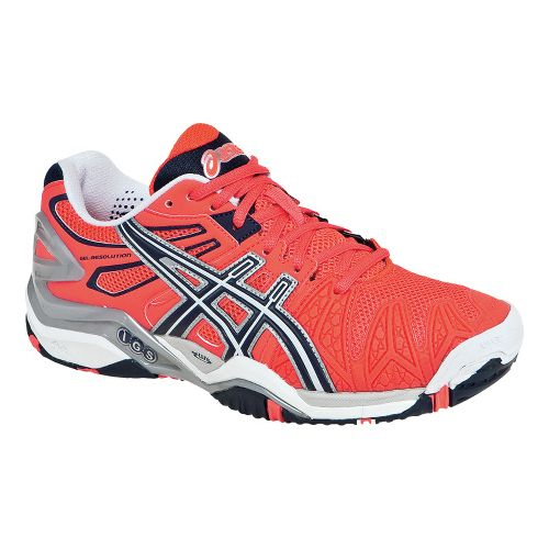 Womens ASICS GEL-Resolution 5 Court Shoe - Diva Pink/Eclipse 7