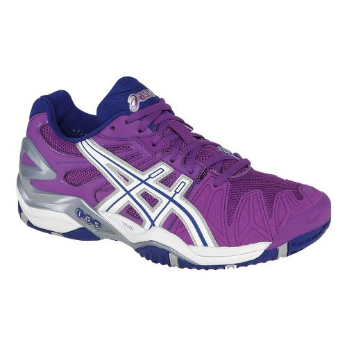 Womens ASICS GEL-Resolution 5 Court Shoe - Grape/White 10.5
