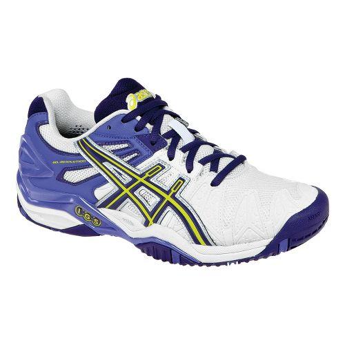 Womens ASICS GEL-Resolution 5 Court Shoe - White/Purple 10