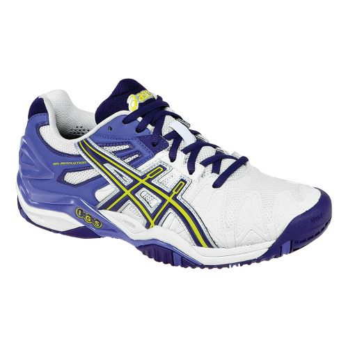 Womens ASICS GEL-Resolution 5 Court Shoe - White/Purple 10.5