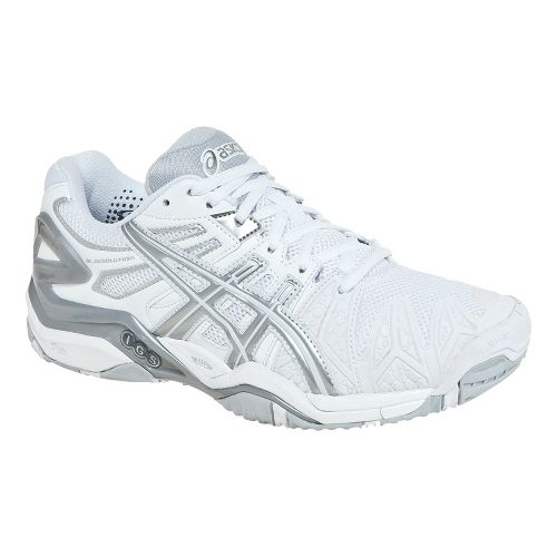 Womens ASICS GEL-Resolution 5 Court Shoe - White/Silver 8.5