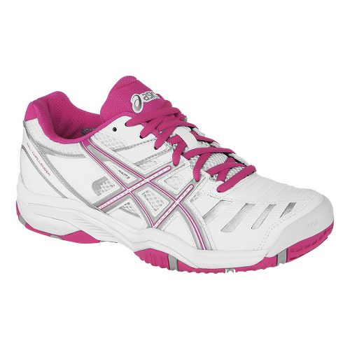 Womens ASICS GEL-Challenger 9 Court Shoe - White/Fuchsia 5
