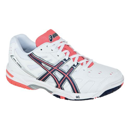 Womens ASICS GEL-Game 4 Court Shoe - White/Eclipse 7.5