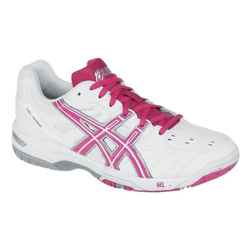Womens ASICS GEL-Game 4 Court Shoe - White/Fuchsia 7.5