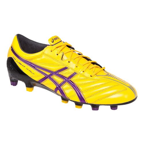 Mens ASICS DS Light X-FLY K Track and Field Shoe - Yellow/Purple 10.5