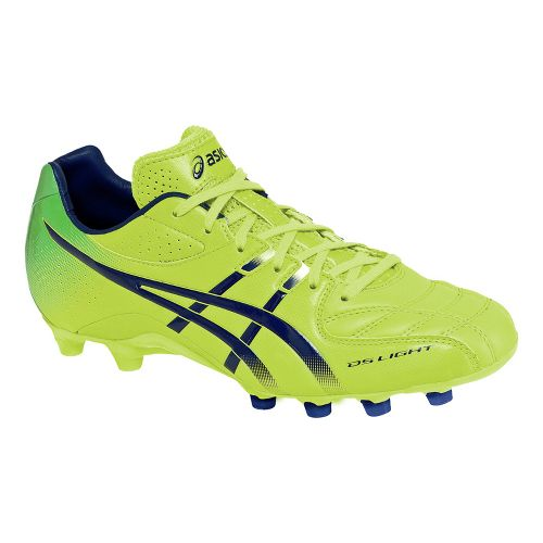 Mens ASICS DS Light 5 Track and Field Shoe - Lime/Navy 6.5