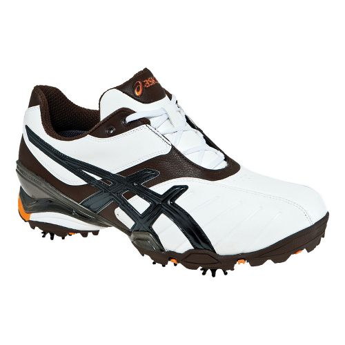 Mens ASICS GEL-Ace Tour 3 Track and Field Shoe - White/Coffee 9.5