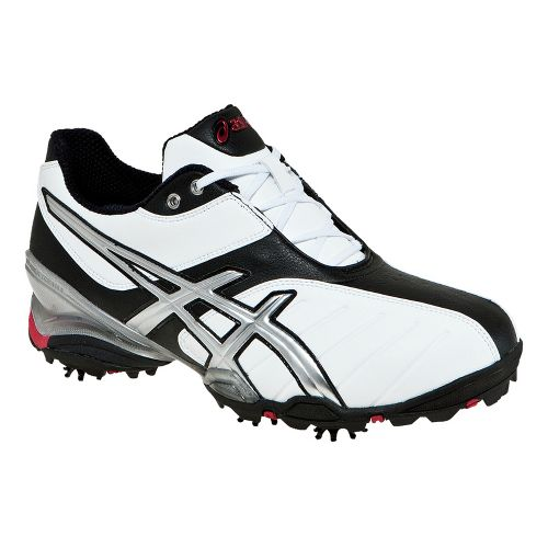 Mens ASICS GEL-Ace Tour 3 Track and Field Shoe - White/Silver 10.5