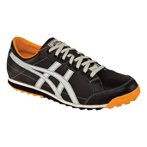 Mens ASICS Matchplay Classic Casual Shoe - Dark Brown/Sun 7.5