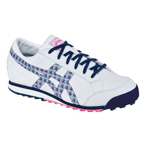 Womens ASICS Matchplay Classic Casual Shoe - White/Navy 11.5