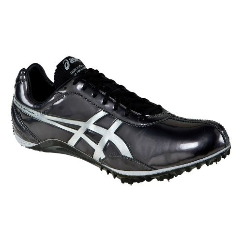 Mens ASICS FastLap MD Track and Field Shoe - Black/Silver 9.5