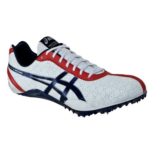 Mens ASICS FastLap MD Track and Field Shoe - White/Navy 10.5