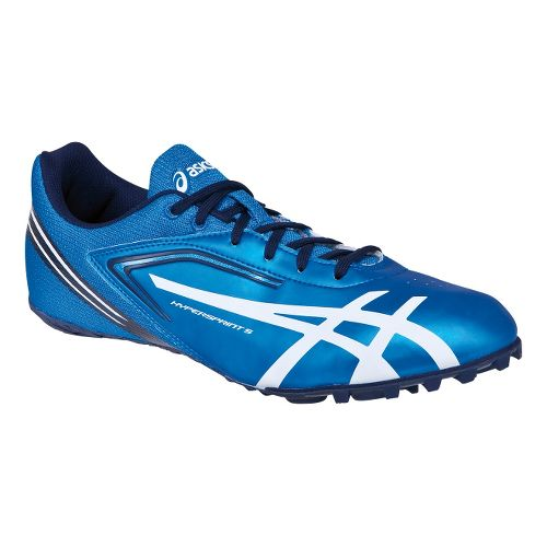 Mens ASICS HyperSprint 5 Track and Field Shoe - Blue/White 8.5