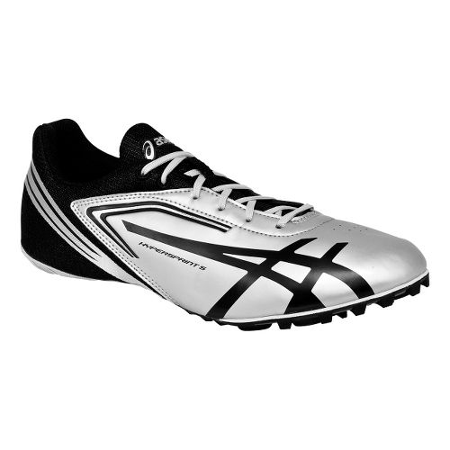 Mens ASICS HyperSprint 5 Track and Field Shoe - Quicksilver/Black 11.5