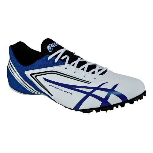 Mens ASICS HyperSprint 5 Track and Field Shoe - White/Black 11.5
