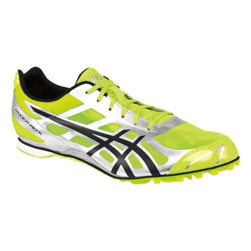 Mens ASICS Hyper MD 5 Track and Field Shoe - Neon Yellow/Black 12.5