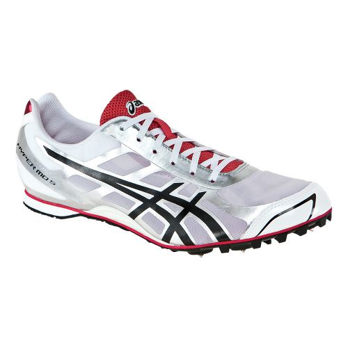 Mens ASICS Hyper MD 5 Track and Field Shoe - White/Silver 4.5