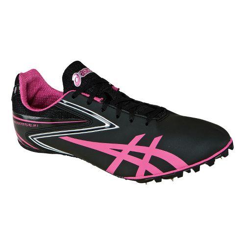 Womens ASICS Hyper-Rocketgirl SP 5 Track and Field Shoe - Black/Raspberry 5.5
