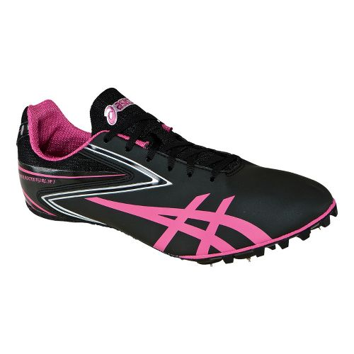 Womens ASICS Hyper-Rocketgirl SP 5 Track and Field Shoe - Black/Raspberry 7.5