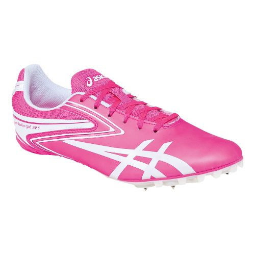 Womens ASICS Hyper-Rocketgirl SP 5 Track and Field Shoe - Neon Pink/White 10.5