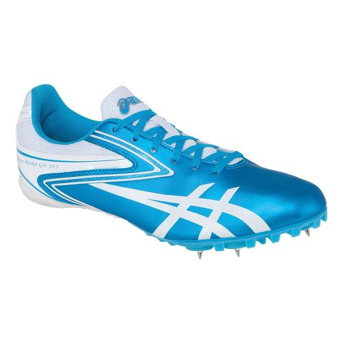 Womens ASICS Hyper-Rocketgirl SP 5 Track and Field Shoe - Turquoise/White 5.5