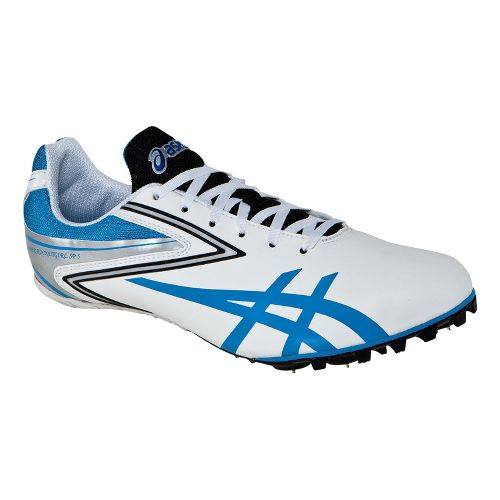 Womens ASICS Hyper-Rocketgirl SP 5 Track and Field Shoe - White/Malibu Blue 5