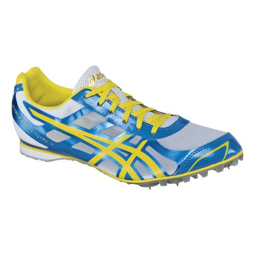 Womens ASICS Hyper-Rocketgirl 6 Track and Field Shoe - Malibu Blue/Lemon 10.5