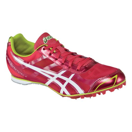 Womens ASICS Hyper-Rocketgirl 6 Track and Field Shoe - Pink/White 6.5