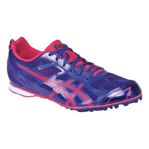 Womens ASICS Hyper-Rocketgirl 6 Track and Field Shoe - Purple/Hot Punch 5
