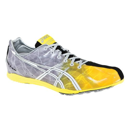 Mens ASICS GunLap Track and Field Shoe - Flash Yellow/White 10.5