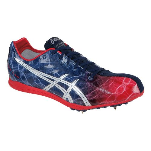 Mens ASICS GunLap Track and Field Shoe - Navy/Red 7.5