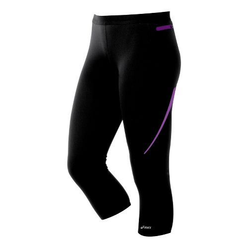 Womens ASICS ARD Capri Tights - Black XS