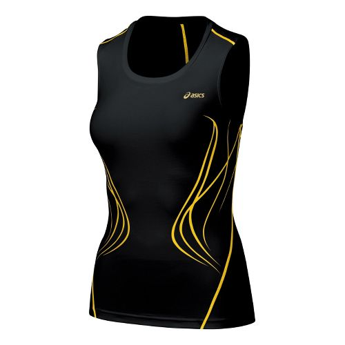 Womens ASICS TIL Inner Muscle Sleeveless Technical Tops - Black XS