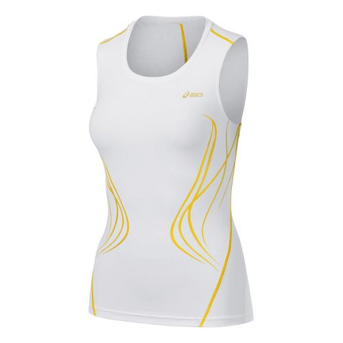 Womens ASICS TIL Inner Muscle Sleeveless Technical Tops - White L