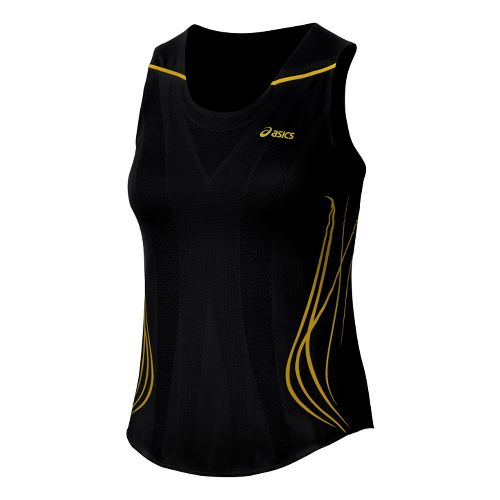 Womens ASICS TIL Singlet Technical Tops - Black XS