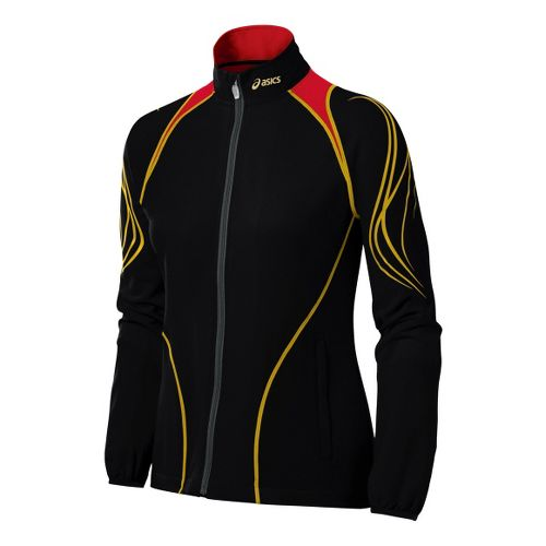 Womens ASICS TIL Running Jackets - Black XL