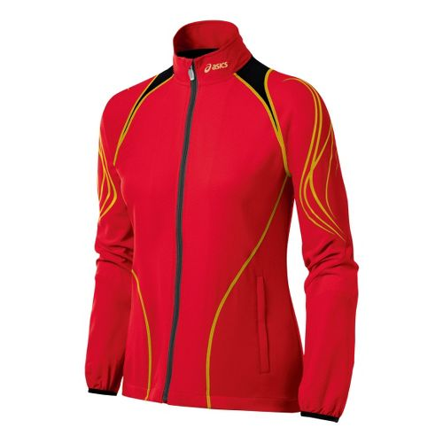 Womens ASICS TIL Running Jackets - Flame/Red M